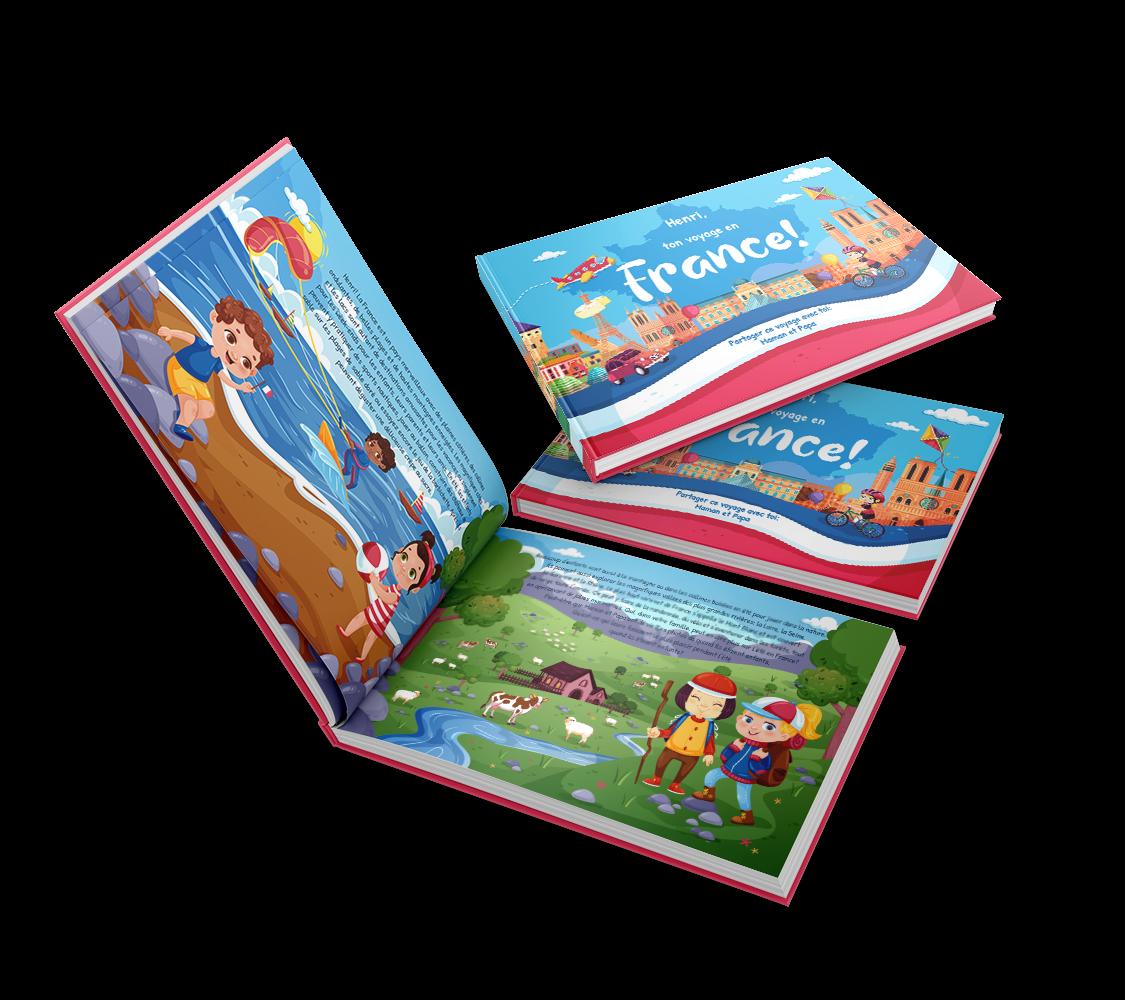 Aprite un grande dialogo con i vostri figli francesi espatriati in questo libro personalizzato sulla Francia