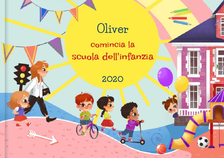 Libro scuola dell'infanzia, libro personalizzato per bambini