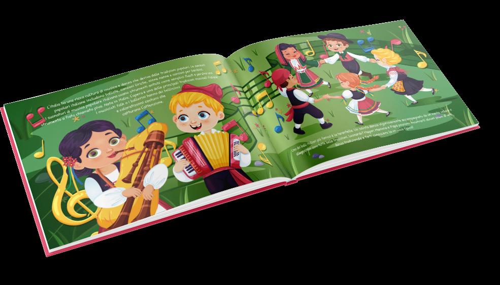Teile eine wunderbare Erfahrung mit den Kleinen mit diesem Buch über Italien