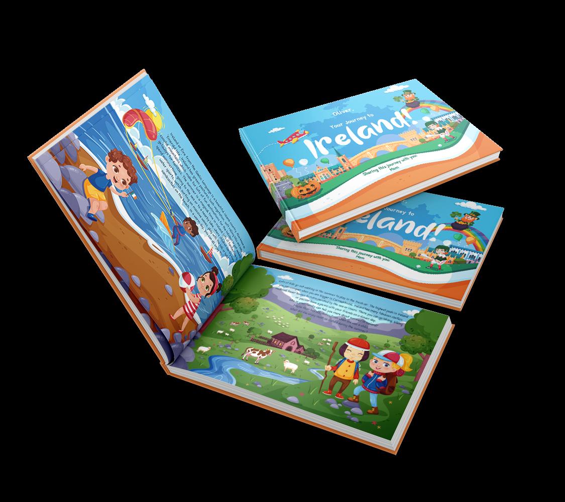 Fă un copil irlandez fericit și călătoriți împreună în Irlanda prin povești