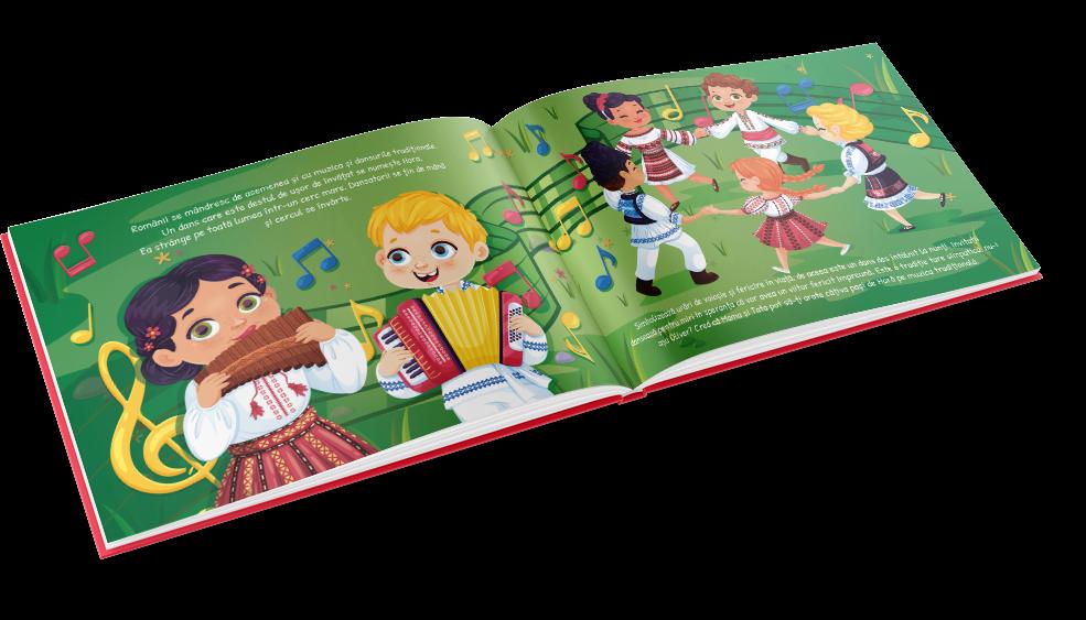 Traditioneller rumänischer Tanz oder traditionelles rumänisches Essen: Kinder entdecken mehr in dieser persönlichen Geschichte über Rumänien
