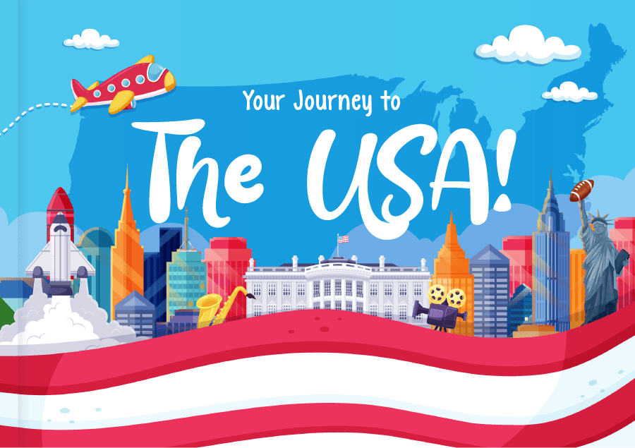 Kids Book Journey to the USA