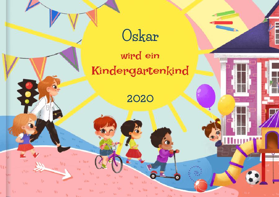 Kindergarten Buch personalisiert: Ein Kindergartenkind werden