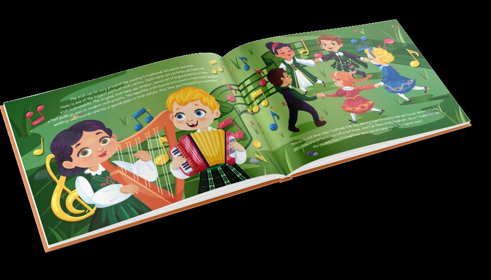Aceasta este o carte irlandeză minunată pentru a entuziasma copiii despre moștenirea familiei lor