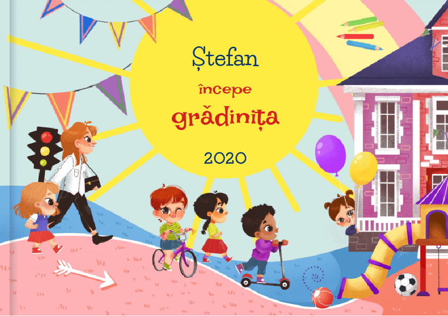 Carte personalizată pentru copii: Începem grădinița
