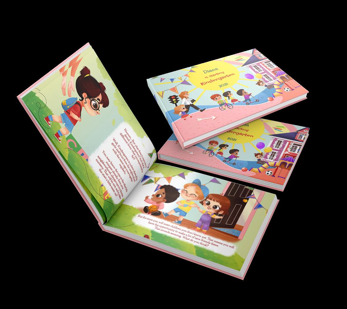 Un'avventura di lettura unica: il nome del bambino nel libro scuola dell'infanzia e scegliere quale personaggio dell'asilo sei tu. Fate un regalo personalizzato per prepararvi all'accoglienza.