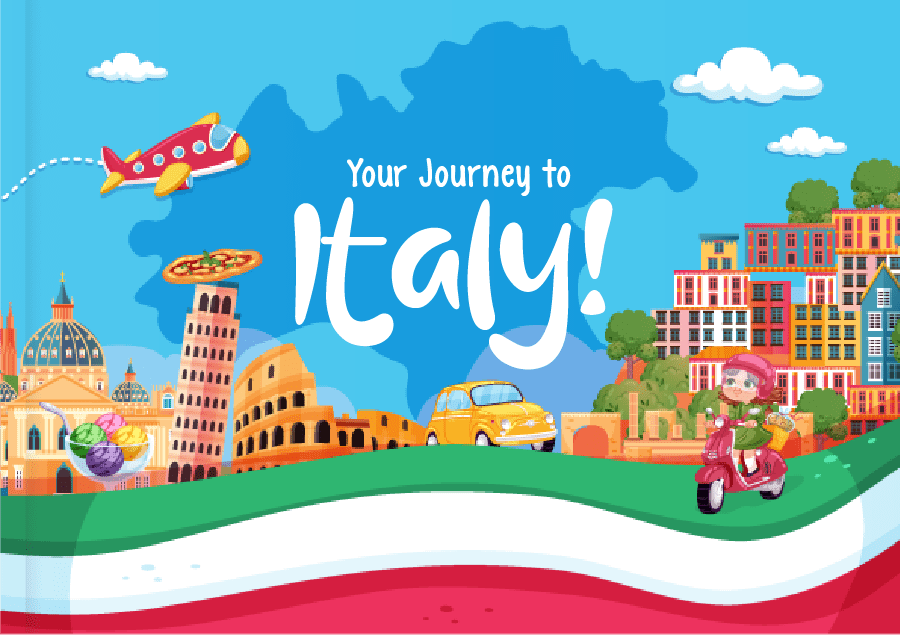 Children's book about Italy